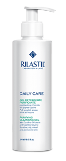 Gel rửa mặt dành cho da dầu Rilastil Daily Care Cleansing and Purifying Gel - Daily Care